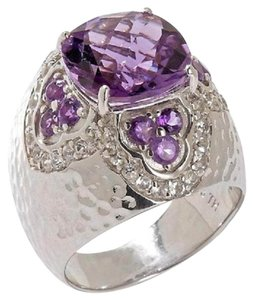 Sima K Sima K 4.83ct Amethyst and White Topaz Sterling Silver Ring - Size 10