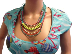 Tanjore Neon Multi Bright Necklace