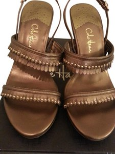 Cole Haan Nike Air Sexy Leather Strappy Brown Sandals