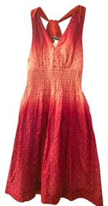 Sportmax short dress Magenta/Coral Summer Ombre Bright Sleeveless Vacation Print on Tradesy
