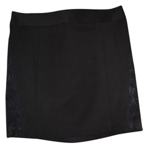 Express Lace Mini Skirt Black
