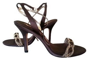 Nina Shoes Strappy Embellished Brown Formal