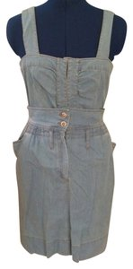 Sportmax short dress Lt. Denim Jumper Overalls on Tradesy