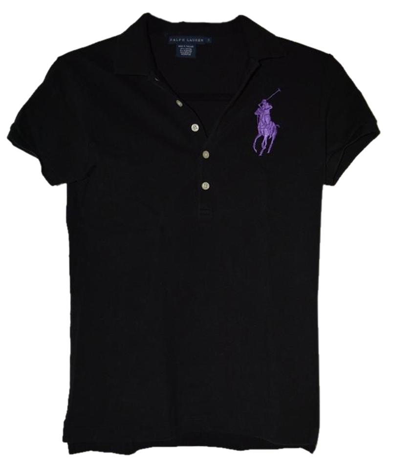 6d412e2c Polo Ralph Lauren Black Classic Purple Big Horse Tee Shirt Size 4 (S ...