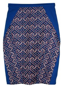 Eva Franco Anthropologie Skirt Blue Multi