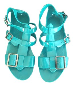 Burberry Jelly Strappy Sandal Rubber Teal Sandals