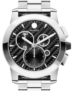 Movado Movado Vizio Swiss Chronograph Stainless Steel Bracelet Watch