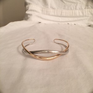 Ed Levin Ed Levin Silver/Bonded 14K Gold Twist Tendril Cuff Bracellet