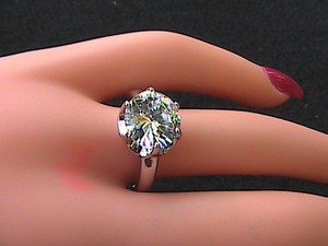 14k White Gold Filled White Topaz Engagement Ring (#60)
