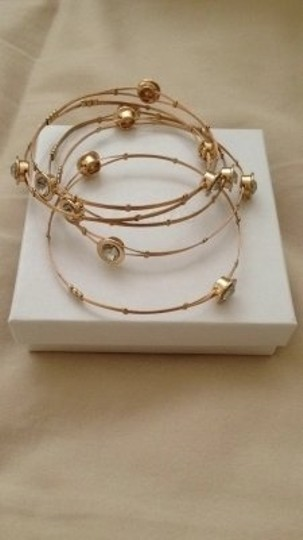 Dillard's Gold/Stone Stackable Bangles