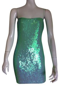 Badgley Mischka Badgley M Sequined Cocktail Party Embellished Dress