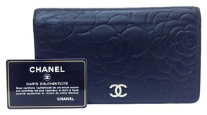 Chanel Chanel Leather Camellia Wallet