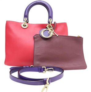 Dior Christian Satchel in red