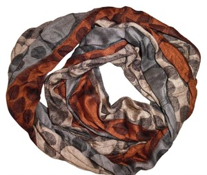 Spotted Geometric Circles Infinity Scarf