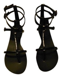 Giuseppe Zanotti Strappy Chic Made In Italy Black Sandals