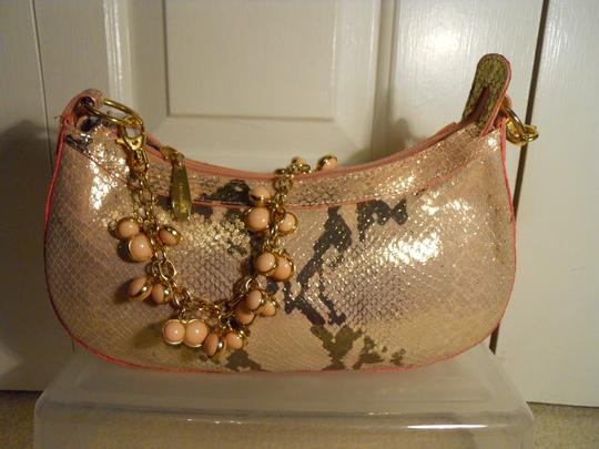Berge Leather Straw Snakeskin Clutch Shoulder Bag Image 6