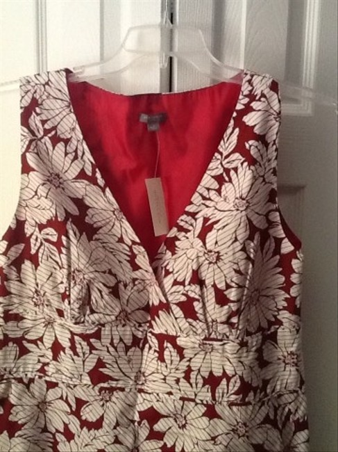 Ann Taylor short dress Red/white on Tradesy