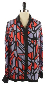 Robert Rodriguez Abstract Top Red Purple