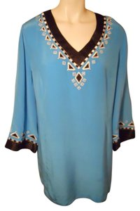 Bob Mackie Silk Studded Embroidered Tunic