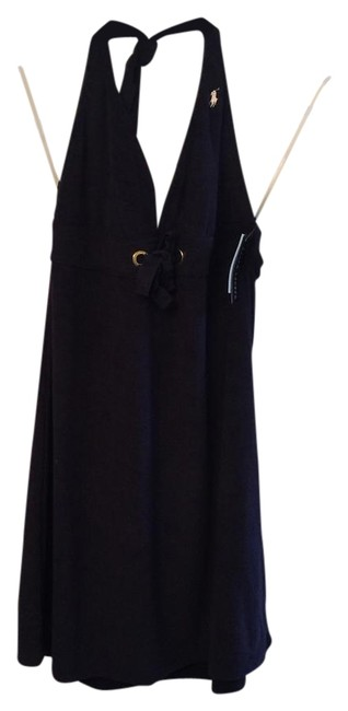 Item - Navy Terry Cloth Halter Cover-up/Sarong Size 12 (L)