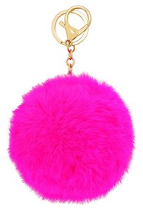 Other Pink Fuchsia Pom Pom Rabbit Fur Bag/Purse Charm Key Chain