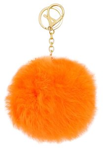 Other Orange Pom Pom Rabbit Fur Bag/Purse Charm Key Chain