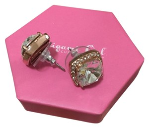 """Origami Owl """"The Sophia"""" Rose Gold Stud Earrings with Pave Swarovski Crystals"""