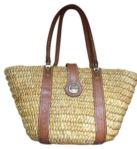 Michael Kors Beach Gold Hardware Straw Beach Bag