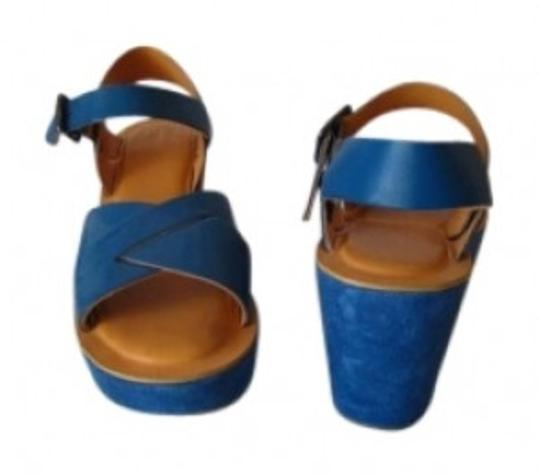 Kork-Ease Suede New With Box Classic 70's Style. Blue Lagoon Platforms