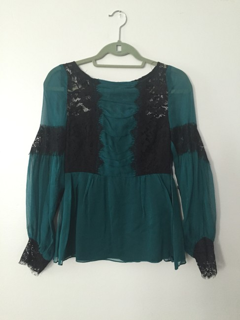 Nanette Lepore Top teal/black