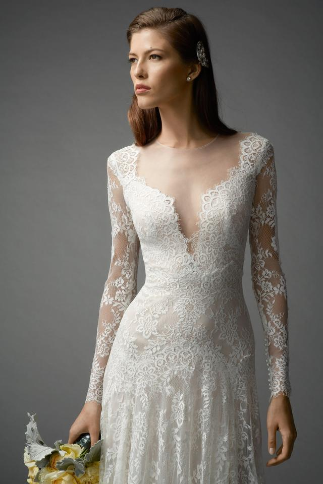 Watters Ivory Lace / Bare Lining Ballerina / Illusion Tulle ...