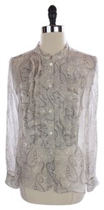 J.Crew Flouncette Silk Shirt Top Faded Paisley