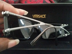 Versace Versace black frame with silver snakehead accent sunglasses