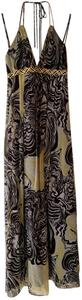 Laundry by Shelli Segal Belted Braided Halter Safari Gown Dress