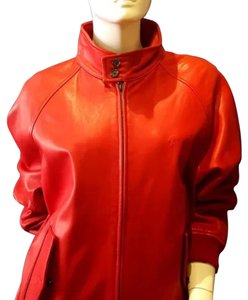 Ralph Lauren RED Leather Jacket