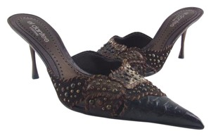 El Dantés 80% Off Retail Handmade In Spain Sizes 36 39 Brown Leather Studded Mules