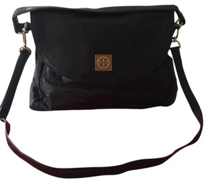 Tory Burch Leather Top Handle Pockets Soft Front Flap Cross Body Bag