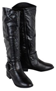 Bamboo Motorcycle Military black Boots