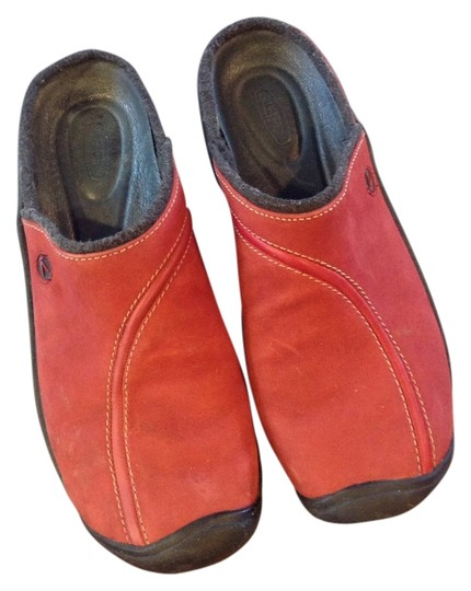 Keen Red Mules
