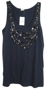 J.Crew Sequin Cami Top Navy