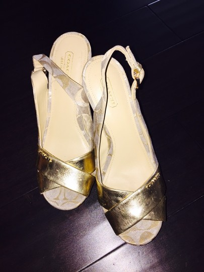 Coach Metallic Wedges
