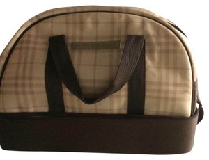 Burberry Beige And Brown Travel Bag