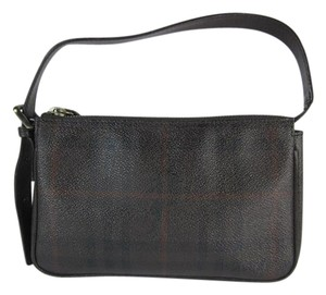 Burberry Nova Check Leather Evening Shoulder Bag