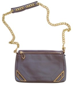 Botkier Lavender Leather Clutch Cross Body Bag