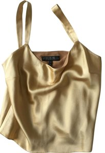 Lafayette 148 New York Night Out Louis Vuitton Silk Top Gold