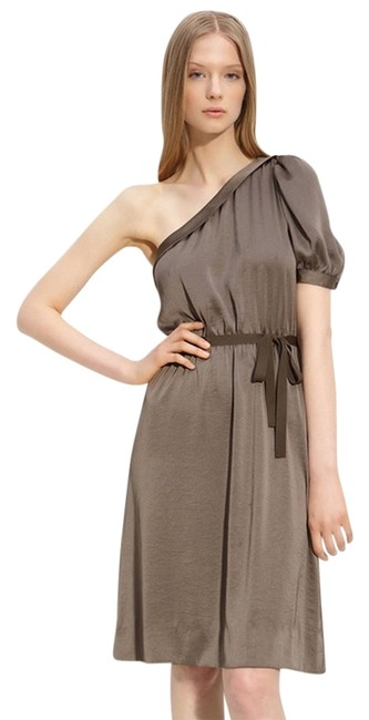 Marc Jacobs One Shoulder Sateen Asymmetrical Dress