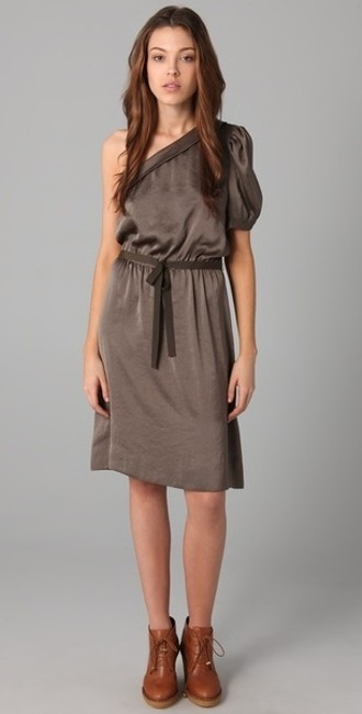 Marc Jacobs One Sateen Asymmetrical Dress