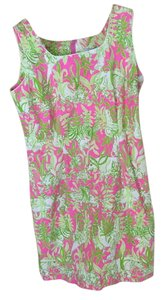 Lilly Pulitzer short dress Green/pink on Tradesy