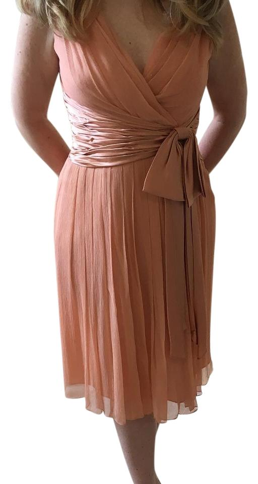 Maggy London Apricot Knee Length Cocktail Dress Size 8 M Tradesy
