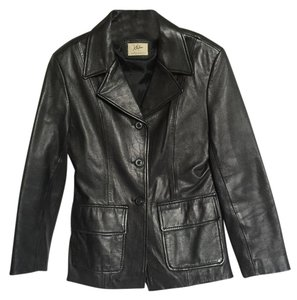 Xtrem Revival Collection Black Leather Leather Jacket